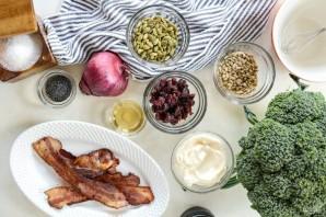 Салат с брокколи и беконом - фото шаг 1