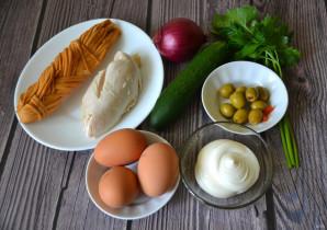 """Салат с копченым сыром """"Косичка"""" - фото шаг 1"""