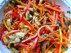 Салат из баклажанов по-корейски - фото шаг 9