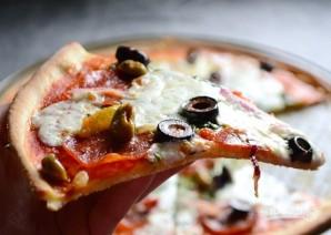 Тонкая основа для пиццы - фото шаг 8