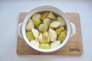 Яблочный компот с корицей - фото шаг 4
