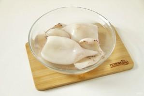 ПП салат с кальмаром - фото шаг 2