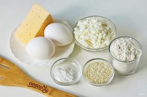 Сырные палочки с кунжутом - фото шаг 1