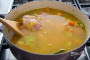 Зимний суп с курицей - фото шаг 4