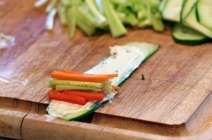 Овощные роллы - фото шаг 4