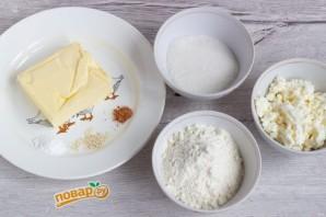 Творожное печенье с корицей и кунжутом - фото шаг 1