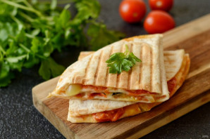 Тортилья с помидорами - фото шаг 6
