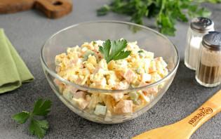 Салат с бужениной и огурцом - фото шаг 7