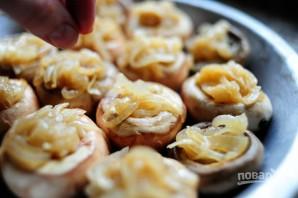 Шампиньоны под сыром в духовке - фото шаг 6