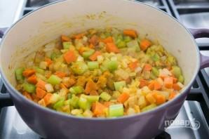 Зимний суп с курицей - фото шаг 2