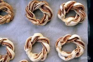 Крученые пончики с нутеллой - фото шаг 6