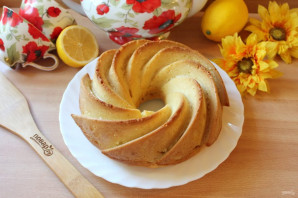 Лимонный кекс без яиц - фото шаг 13