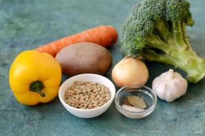 Суп с чечевицей и брокколи - фото шаг 1