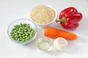 Рис с горохом и сладким перцем - фото шаг 1