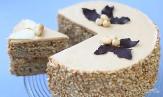 Кофейно-ореховый торт - фото шаг 8