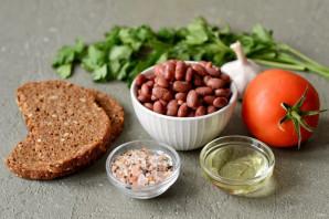Салат с фасолью и кинзой - фото шаг 1