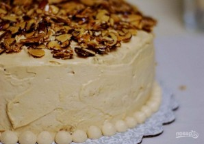 Торт с миндалём и солёной карамелью - фото шаг 12