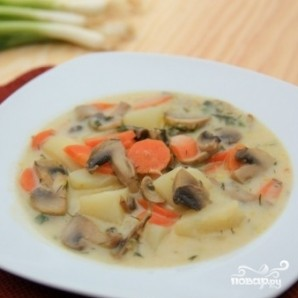 Простой грибной суп - фото шаг 12