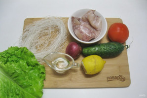 Постный салат с кальмарами - фото шаг 1
