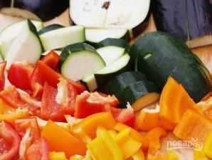 Овощи на гриле для салата - фото шаг 2