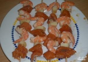 Шашлык из рыбы в духовке - фото шаг 2