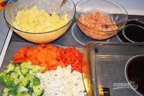 Красная рыба с овощами в духовке - фото шаг 4
