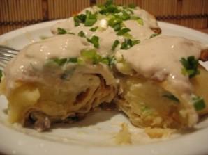 Блинчики с картошкой и луком - фото шаг 5