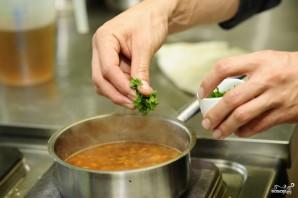 Суп из лисичек с фасолью - фото шаг 13