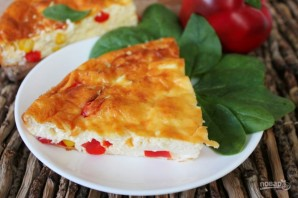 Творожная запеканка с болгарским перцем и кукурузой - фото шаг 9
