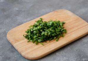 Постный салат с черемшой - фото шаг 4