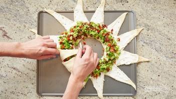 Закусочный пирог с беконом и овощами - фото шаг 4