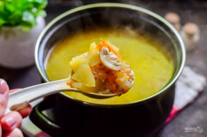 Гречневый суп с шампиньонами - фото шаг 7