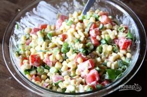 Острый салат из кукурузы - фото шаг 4