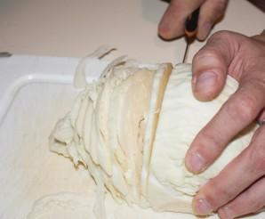 Пирог с капустой и рыбной консервой - фото шаг 7