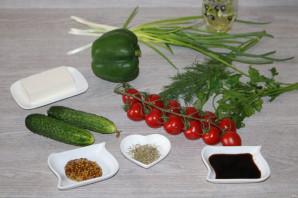 Салат с зелёным болгарским перцем - фото шаг 1