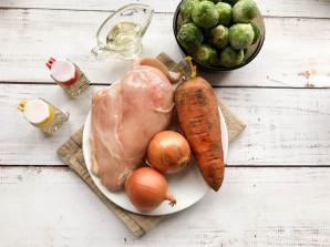 Курица с брюссельской капустой - фото шаг 1
