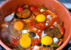 Яичница с баклажанами - фото шаг 3