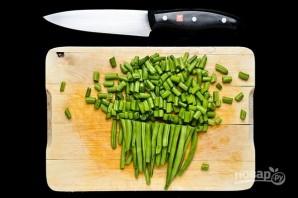 Салат с куриным филе, ананасом и зеленой фасолью - фото шаг 5