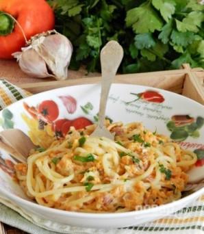 Спагетти в тыквенном соусе с беконом - фото шаг 10