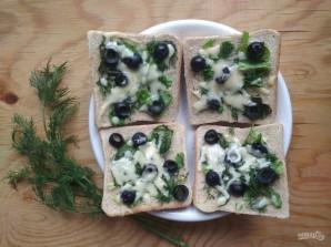 Горячие бутерброды с зеленью и оливками - фото шаг 7