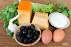 Сырные шарики с маслинами - фото шаг 1