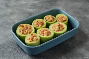 Фаршированный вегетарианский кабачок - фото шаг 6