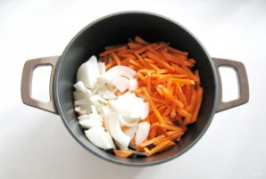 Рис с куриными желудками - фото шаг 2