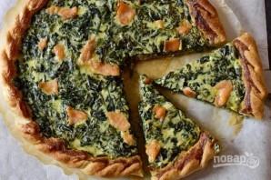 Закусочный пирог со шпинатом и семгой - фото шаг 6