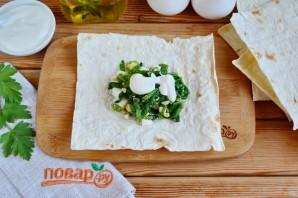 Лаваш с яйцом и шпинатом - фото шаг 6