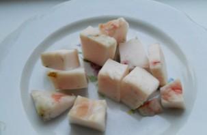 Шашлык из печени на сковороде - фото шаг 5