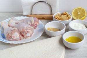 Куриные голени в сметанно-горчичном соусе - фото шаг 1