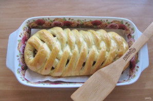 Кулебяка с мясом и грибами - фото шаг 16