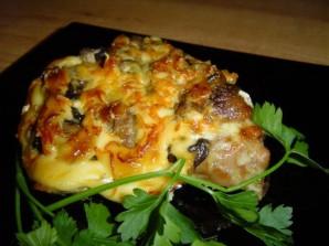 Мясо с сыром и грибами - фото шаг 7