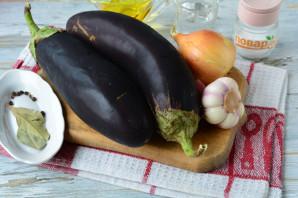 Маринованные баклажаны с чесноком и луком - фото шаг 1